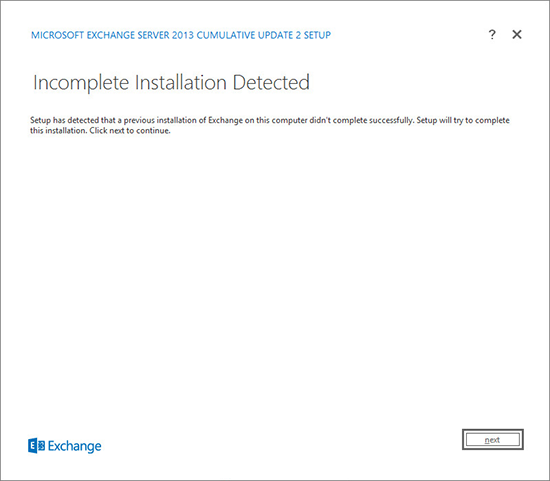 Uninstall Exchange 2013