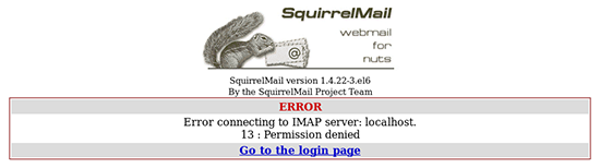 SquirrelMail 13 Permission Denied