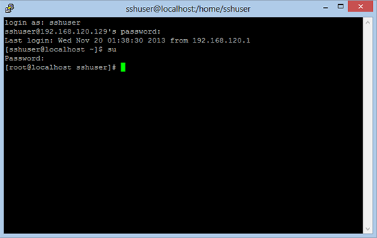 CentOS Secure Shell SSH Access.
