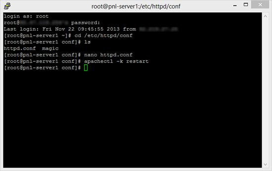 Restart Apache Web Server