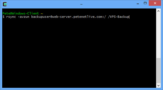 Rsync to backup VPS