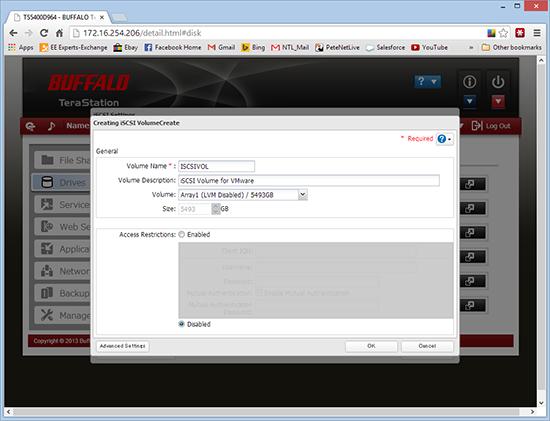Buffalo CHAP VMware