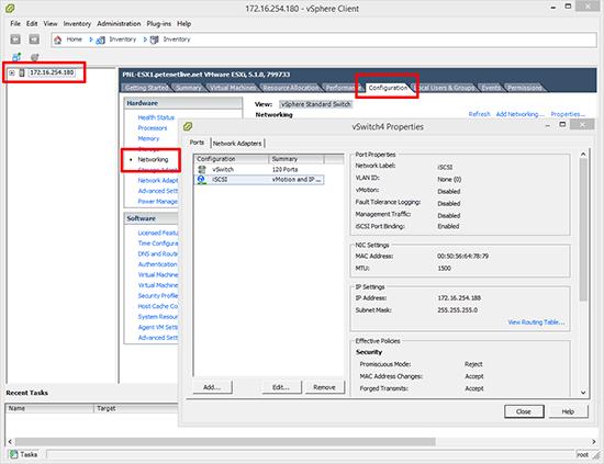 VMware iSCSI Setup