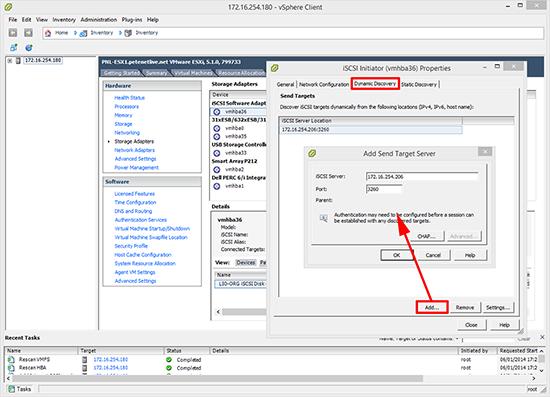 VMware vSphere iSCSI Setup