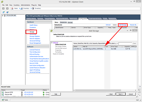 VSphere ESX Add iSCSI