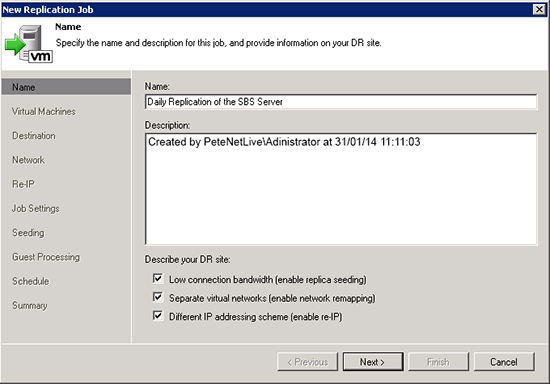 Veeam Enable Seeding