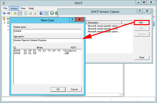 DHCP New Vendor Class