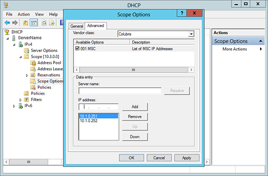 Wireless Controller via DHCP