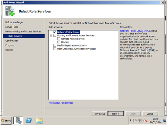 Install Network Policy Server