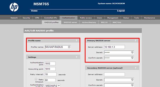 msm radius profile