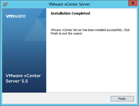 VMware vCenter 5.5 Setup