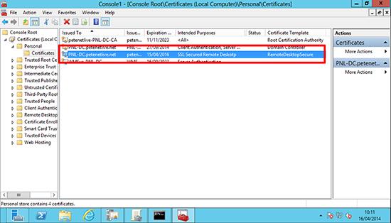 Deploy RDP Certificate