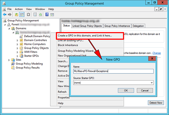 group policy mcafee deploy