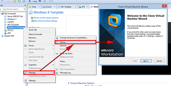 VMware workstation linked clone
