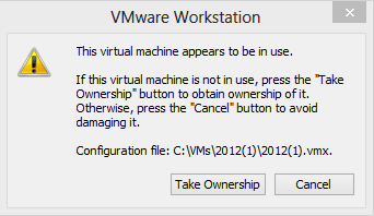 Virtual machine in use