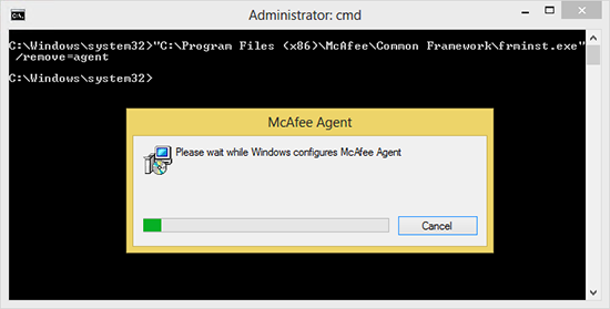 Remove McAfee Agent