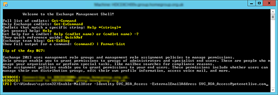 PowerShell Mail Enable a User