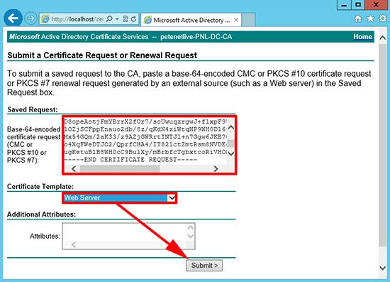 ESX Web Server Certificate