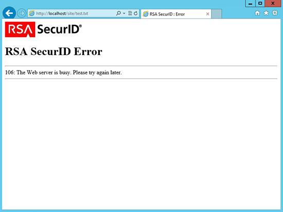 RSA Error 106