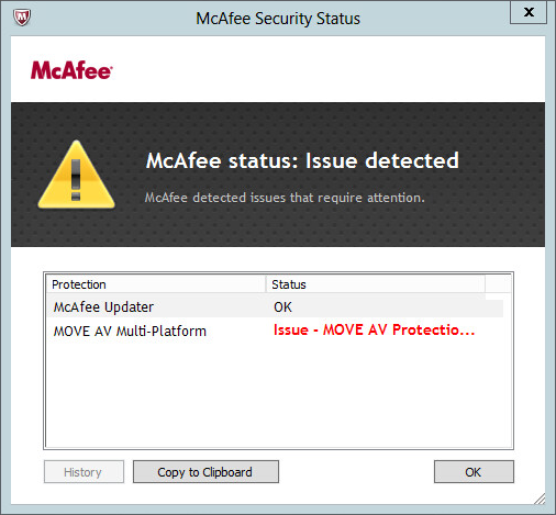 MOVE AV Protection Disabled
