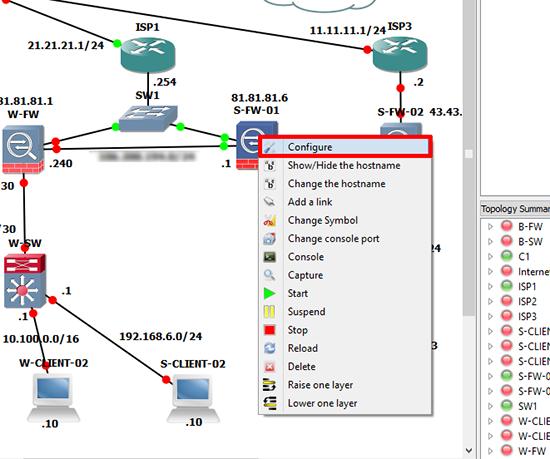 GNS3 ASA Configure