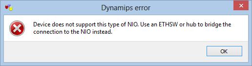 Dynamips Error