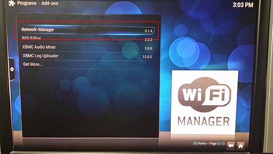 XBMC Gotham Network Manager