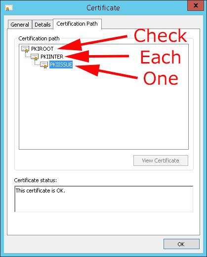 CA Certificate Path