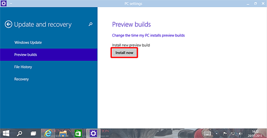 windows 10 update build