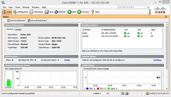 ASDM Working GNS3