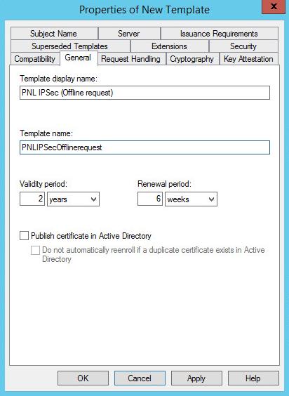 PKI Duplicate Template