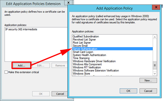 PKI Server Authentication Policy