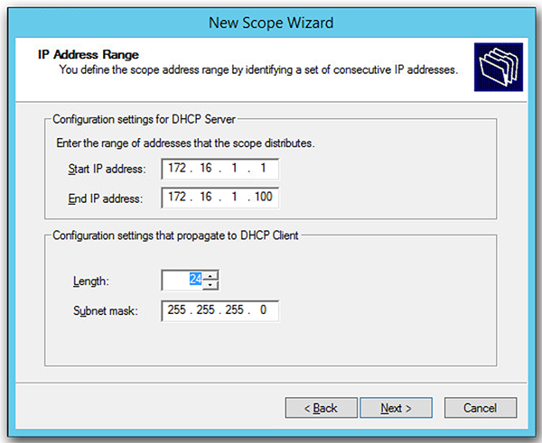 dhcp scope AnyConnect