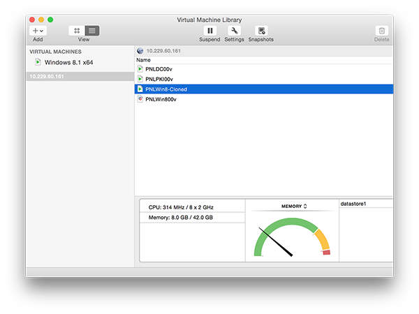 Manage VMware from MAC OSX