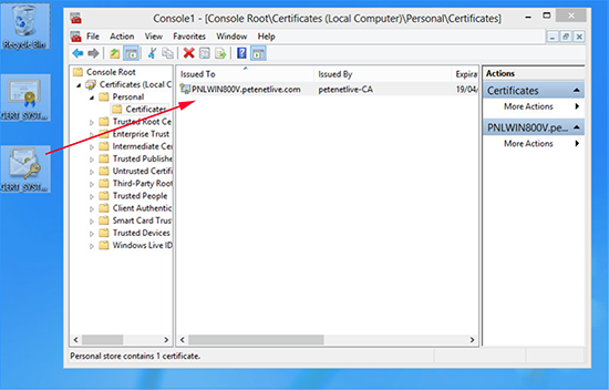 Import cloned certificate