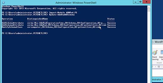 Microsoft LAPS Deployment - Extend Schema
