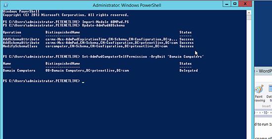 Microsoft LAPS Deployment - Permissions