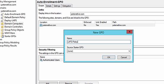 Microsoft LAPS Deployment - Deploy via GPO