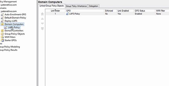 Microsoft LAPS Deployment - GPO