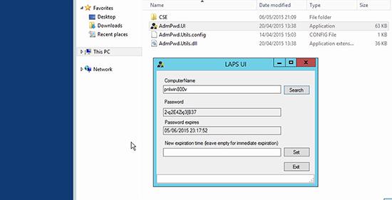 Microsoft LAPS Deployment - GUI Client