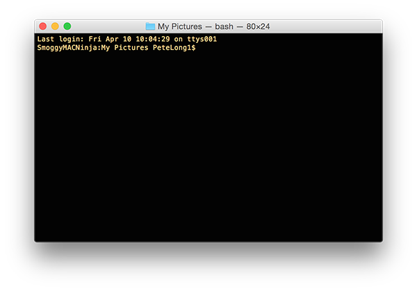 MAC OSX Open Terminal Window