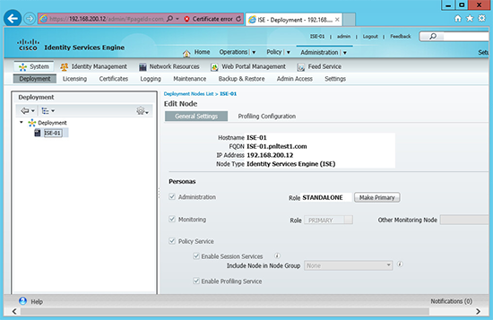 Cisco ISE NFR logged in