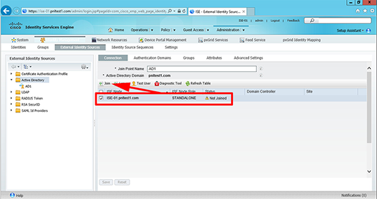 Cisco ISE 802.1x Active Directory