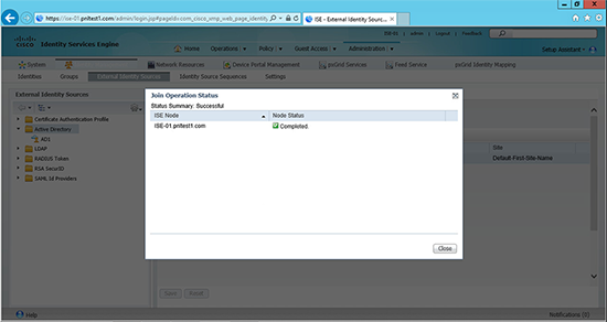 Cisco ISE 802.1x Domain Integration