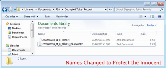 RSA Token Files