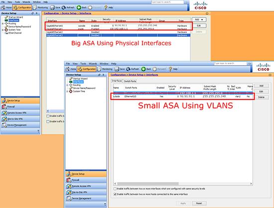 ASA 5500 Change IP