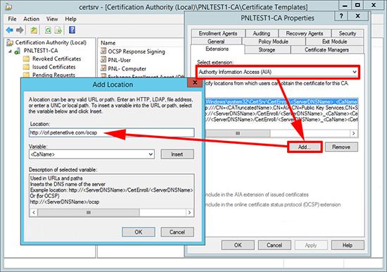 Server 2012 Setup OCSP