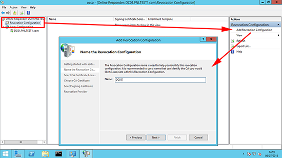 Server 2012 Revication Configuration
