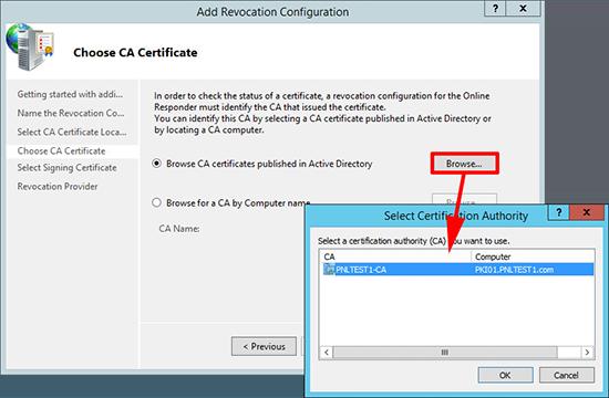 OCSP CA Certificate