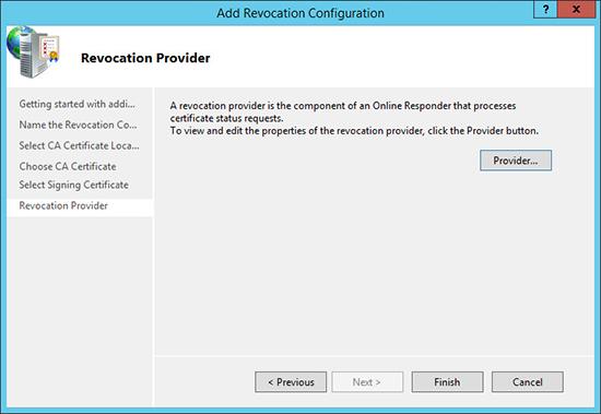 Server 2012 Revocation Provider